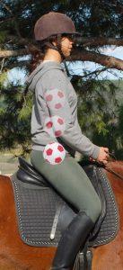 equitación centrada, pelota y centrado