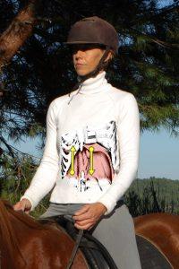 equitación centrada, diafragma