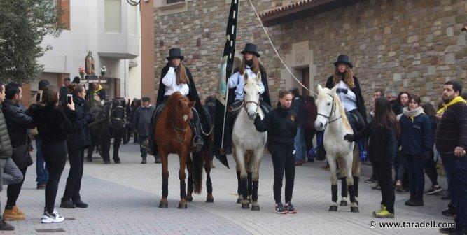 Se aplica un protocolo pionero en Cataluña para preservar el bienestar de los caballos durante las fiestas de «Sant Antoni»
